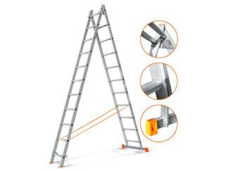 «Эйфель» Гранит 2х11 Двухсекционная лестница