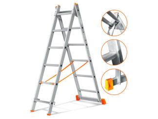 «Эйфель» Гранит 2х6 Двухсекционная лестница