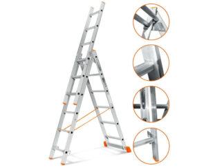 «Эйфель» Гранит 3х6 Трехсекционная лестница