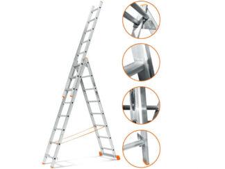 «Эйфель» Гранит 3х8 Трехсекционная лестница