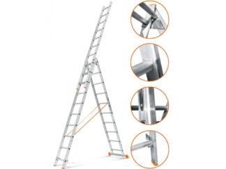 «Эйфель» Гранит 3х10 Трехсекционная лестница
