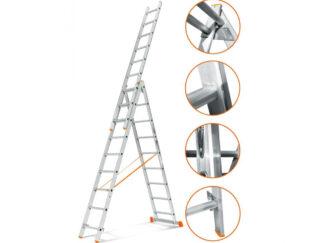 «Эйфель» Гранит 3х9 Трехсекционная лестница