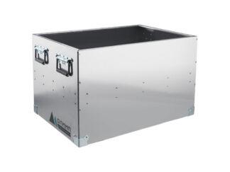 «Олимп» 550х550х1000 Ящик-корзина алюминиевый