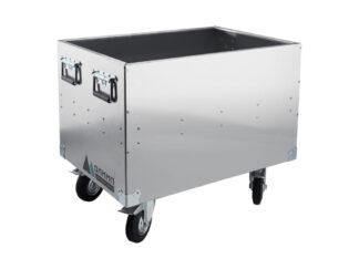 «Олимп» 550х550х1000 Ящик-тележка алюминиевый