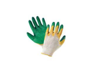 Перчатки хб с двойным латексным обливом и п/ш...
